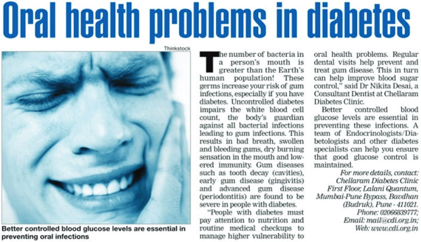 Oral health problems in diabetes